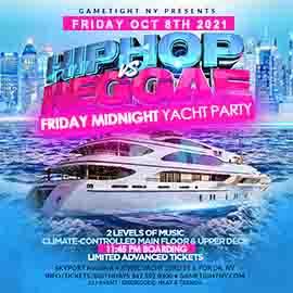 NYC Hip Hop vs Reggae® Midnight Friday Cruise Skyport Marina Jewel