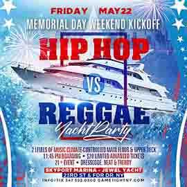 NYC MDW Kickoff Hip Hop vs Reggae® Midinight Yacht Party 2020