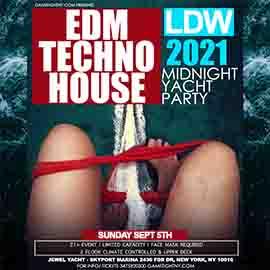 LDW EDM Midnight Yacht Party Sunday Cruise Skyport Marina Jewel Yacht