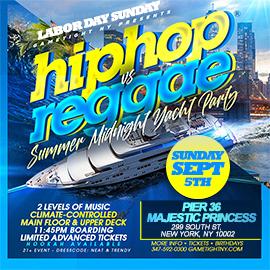 NYC LDW Summer Midnight Hip Hop vs Reggae® Cruise Pier 36 Majestic Princess