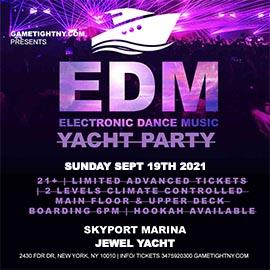 NYC EDM Sunday Sunset Yacht Party Cruise Skyport Marina Jewel Yacht 2021
