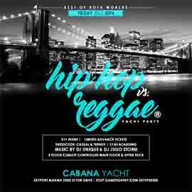 Summer Sunset NYC Cruise Hip Hop vs Reggae® Yacht Skyport Marina Cabana