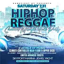 New York Hip Hop vs Reggae® Midnight Summer Cruise Skyport Marina Jewel