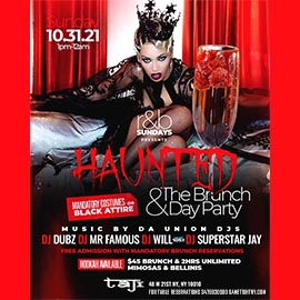 Taj Lounge Halloween Sunday R&B Brunch Reservation
