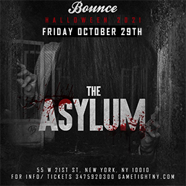 Bounce NYC Halloween Friday night Party 2021