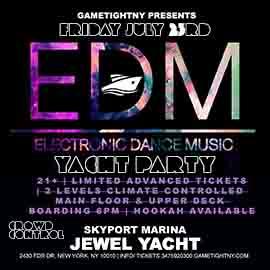 NYC EDM Friday Sunset Yacht Party Cruise Skyport Marina Jewel Yacht 2021