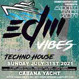NYC EDM House Techno Saturday Midnight Yacht Cruise Skyport Marina Cabana Yacht