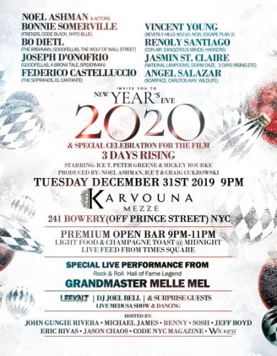 NYE 2020 with Noel Ashman, Actors Bonnie Somerville, Bo Dietl & More