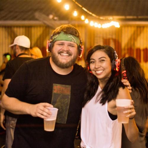 Beer Garden Silent Disco Party