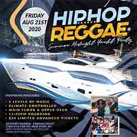Manhattan Hip Hop vs. Reggae® Midnight Cabana Yacht Party