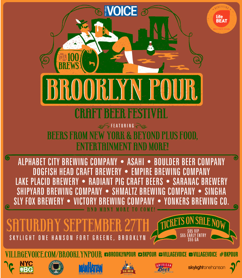 The 4th Annual Village Voice Brooklyn Pour Craft Beer Festival