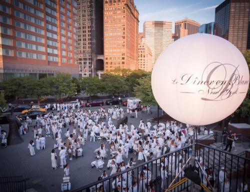 View from the Top for Le Diner en Blanc
