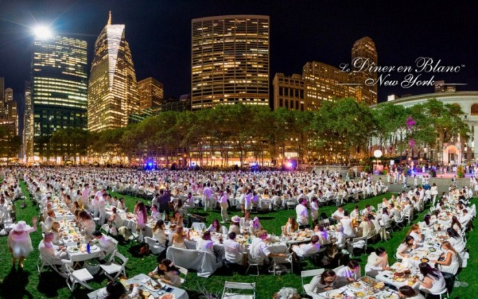 2015 Le Dîner en Blanc in New York City
