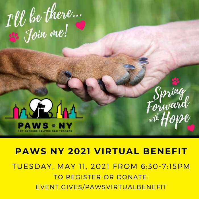 PAWS NY Virtual Benefit
