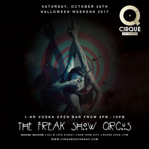 Halloween 2017 Saturday The Freak Show Circus  at Highline Ballroom