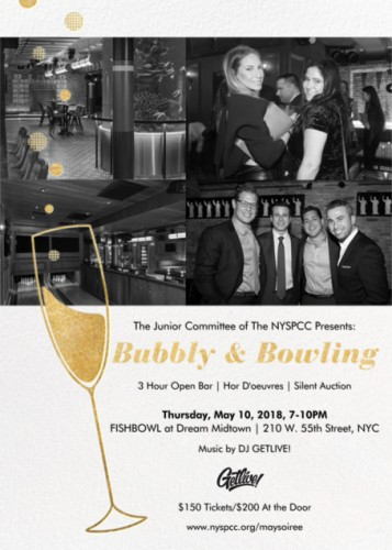 "The NYSPCC's Junior Benefit Committee Presents ""Bubbly & Bowling"""