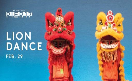 Lion Dance on The Rooftop at Pier 17
