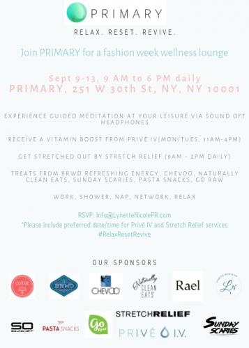 PRIMARY NYFW Wellness Lounge