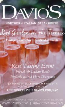 La Vie En Rosé - Rosé Tasting Event on the Rooftop Terrace at Davio's Manhattan