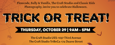 Family Friendly Halloween Event with Photos, Cookies, Crafts, and Costumes