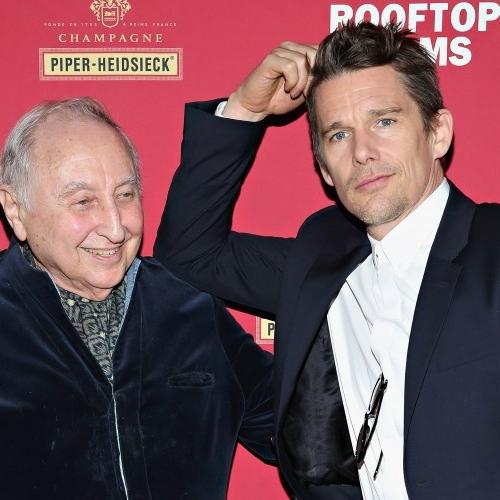Seymour Bernstein & Ethan Hawke close up