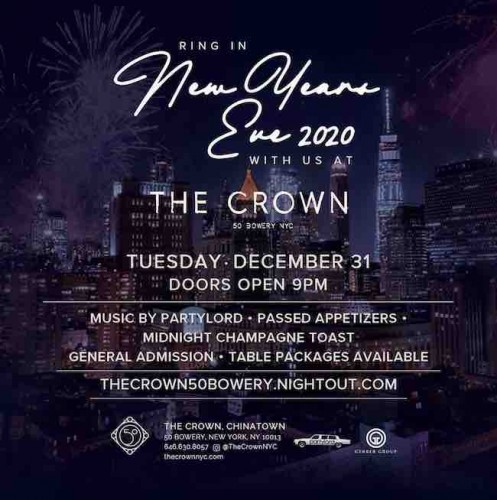 New Year's Eve at The Crown at 50 Bowery