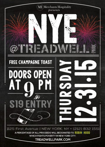 Celebrate NYE at Treadwell Park