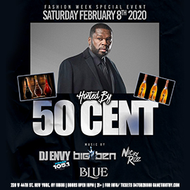 50 Cent live at Blue Midtown 2020