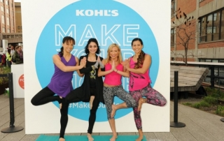 Vanessa Hudgens, Tracy Anderson, Laura Kasperzak and Masumi Goldman of Two Fit Moms celebrate Kohl's Exclusive New Gaiam Apparel Collection