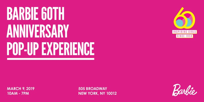 Barbie 60th Anniversary Pop-Up Experience!