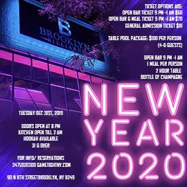 Brooklyn Billiards New Years Eve
