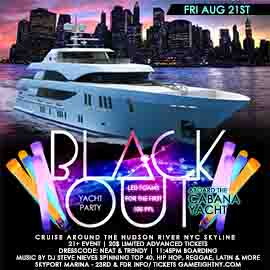 NYC Glowsticks Booze Cruise LED Yacht Party at Skyport Marina