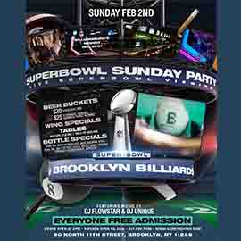 Brooklyn Billiards Superbowl Sunday Viewing party 2020