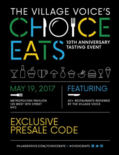 Village Voice's 2017 Choice Eats: 10th Anniversary Tasting Event
