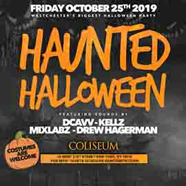 Coliseum White Plains Haunted Halloween party 2019
