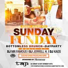 Taj Lounge NYC Sunday Funday Brunch & Day Party 2019