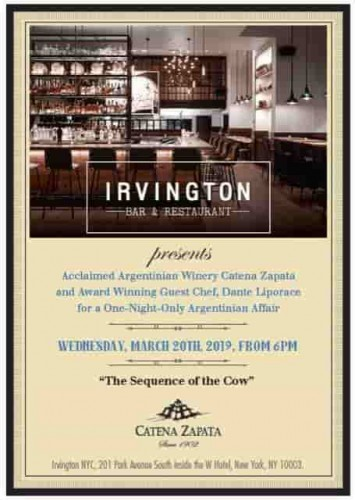 One-Night-Only Argentinian Affair featuring Guest Chef Dante Liporace and Catena Zapata Winery