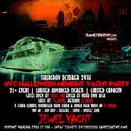 NYC Halloween HipHop vs Reggae® Midnight Cruise Skyport Marina Jewel Yacht