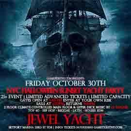 NY Halloween Hip Hop vs Reggae® Sunset Cruise at Skyport Marina Jewel Yacht