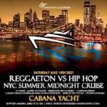 NYC Reggaeton vs Hip Hop Midnight Cruise Skyport Marina Cabana Yacht