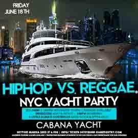 NYC Summer Sunset Cruise Hip Hop vs Reggae® Yacht Party Skyport Marina