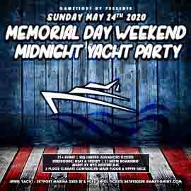 NYC Memorial Day Sunday Yacht Party Cruise at Skyport Marina