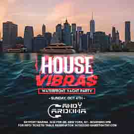 House EDM Sunset Yacht Party End of Summer at Skyport Marina Jewel Yacht
