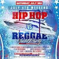 July 4th Weekend Hip Hop vs Reggae® Midnight Cruise Skyport Marina Cabana