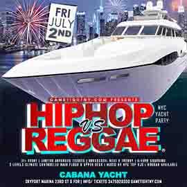 July 4th Weekend NYC Hip Hop vs Reggae® NYC Skyport Marina Cabana Yacht