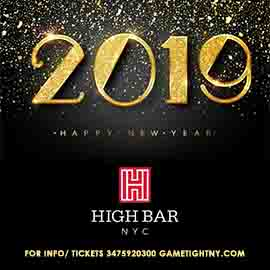 Highbar NYC New Years Eve 2019