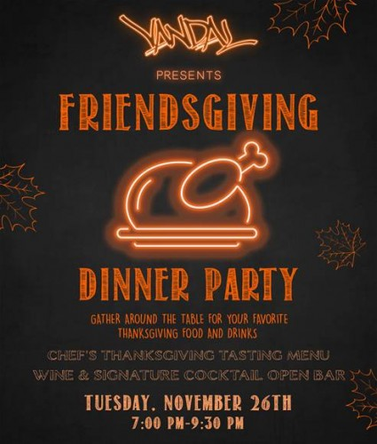 VANDAL Friendsgiving Dinner Party
