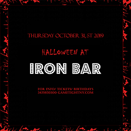 Iron Bar Halloween party 2019 only $15