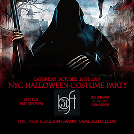 Loft 51 NYC Saturday Openbar Halloween Costume party 2019