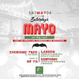 Mayo on the Roof Ravel Penthouse 808 Saturday Everyone FREE onlist
